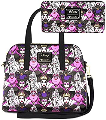 Loungefly x Disney Villains Collage Handbag w// Shoulder Strap