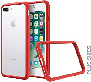 RhinoShield Bumper Compatible with [iPhone 8 Plus / 7 Plus] | CrashGuard NX - Shock Absorbent Slim Design Protective Cover [3.5M / 11ft Drop Protection] - Red
