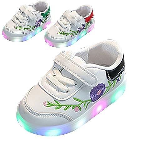 Zapatos De Ninos, Chickwin Unisex Zapatos Niño Luces Suave y Cómodo Parpadea Deportes Zapatos Correr