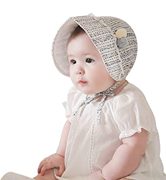 25917e61410 Sumolux Summer and Spring Baby Newborn Sweet Dots Print Lace Princess Fishing  hat Hollow Court Cap Sun hats  Amazon.in  Baby
