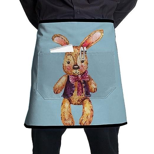 Nicokee Chef Delantales de conejo de juguete cintura corbata media ...