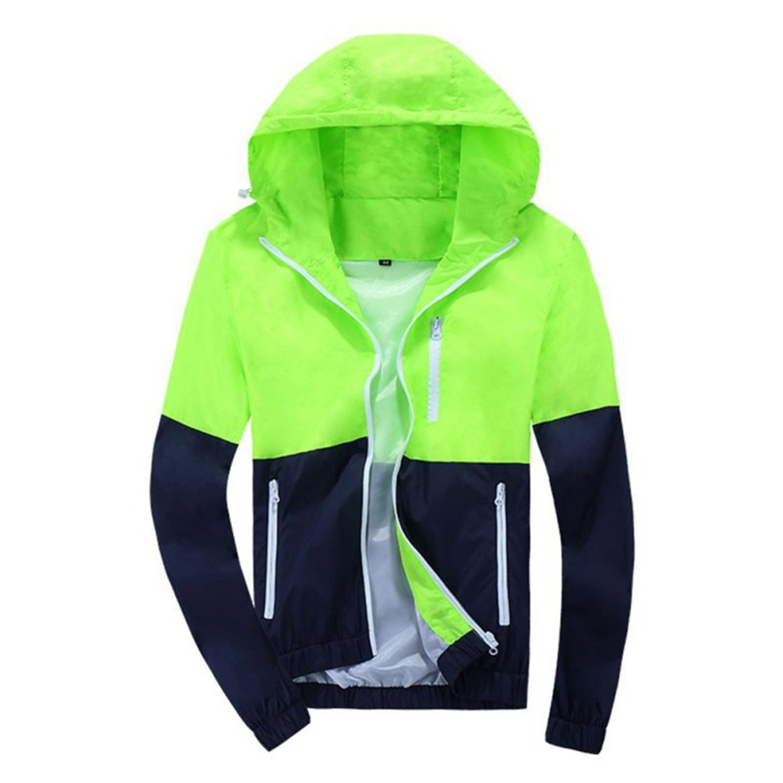MRstriver Hot Selling Spring Autumn Mens Womens Summer Casual Jacket Hooded Jacket Fashion Thin Windbreaker Zipper Coats S-XXXL at Amazon Mens Clothing ...