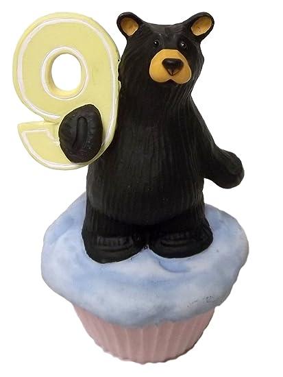 Big Sky Carvers Birthday Age 7 Bear Cub Mini Cupcake Cake Figurine Jeff Fleming