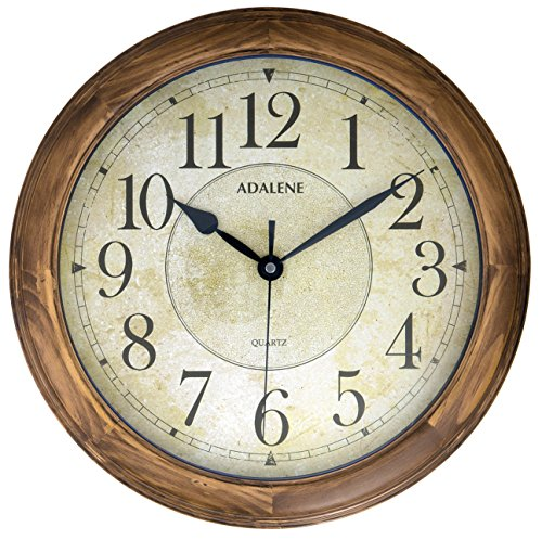 Decorative Wall Clocks for Living Room  Amazon com Adalene 14 Inch Large Wall Clock Decorative Living Room Modern   Battery  Operated Quartz Analog Movement Silent Wall Clock For Home   Round Beige  Dial   . Clocks For Living Room. Home Design Ideas