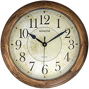 Adalene 14 Inch Large Wall Clock Decorative Living Room Modern   Battery  Operated Quartz Analog