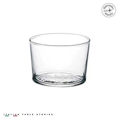 Bormioli Rocco Bodega Collection Glassware – Set Of 12 Mini 7.5 Ounce Drinking Glasses For Water, Beverages & Cocktails – 7.5oz Clear Tempered Glass Tumblers