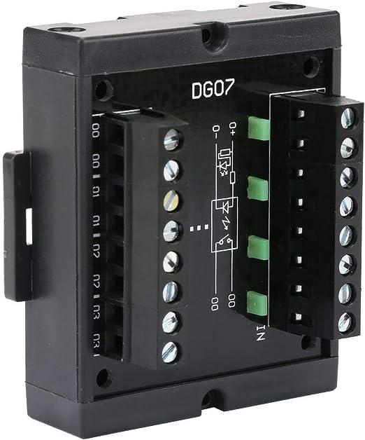 SANON Convertidor de Nivel Convertidor de Se/ñal Npn a Pnp de 4 Canales Voltaje Amplio 10-28V