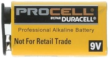 Amazon.com: Pilas Duracell Procell de 9 voltios, paquete de ...