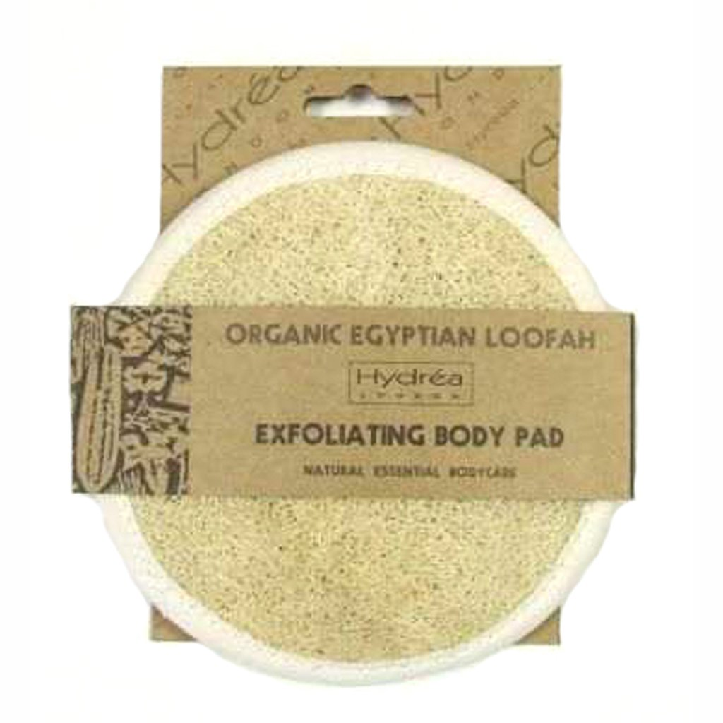 Hydrea London Natural Organic Egyptian Loofah Exfoliating Face And Body Pad LO15