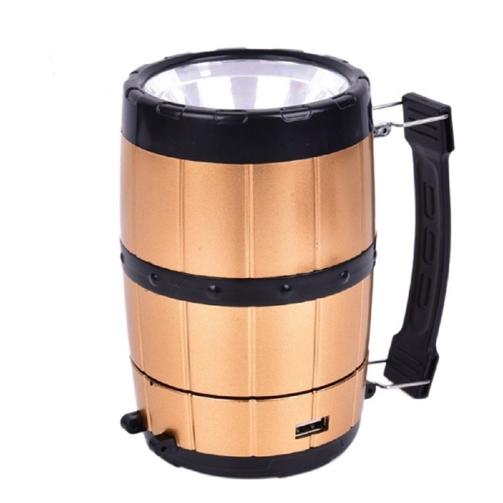 Svitlife Retractable Camping Tent Solar Lantern Outdoor Portable Emergency LED Light Lamp Bronze