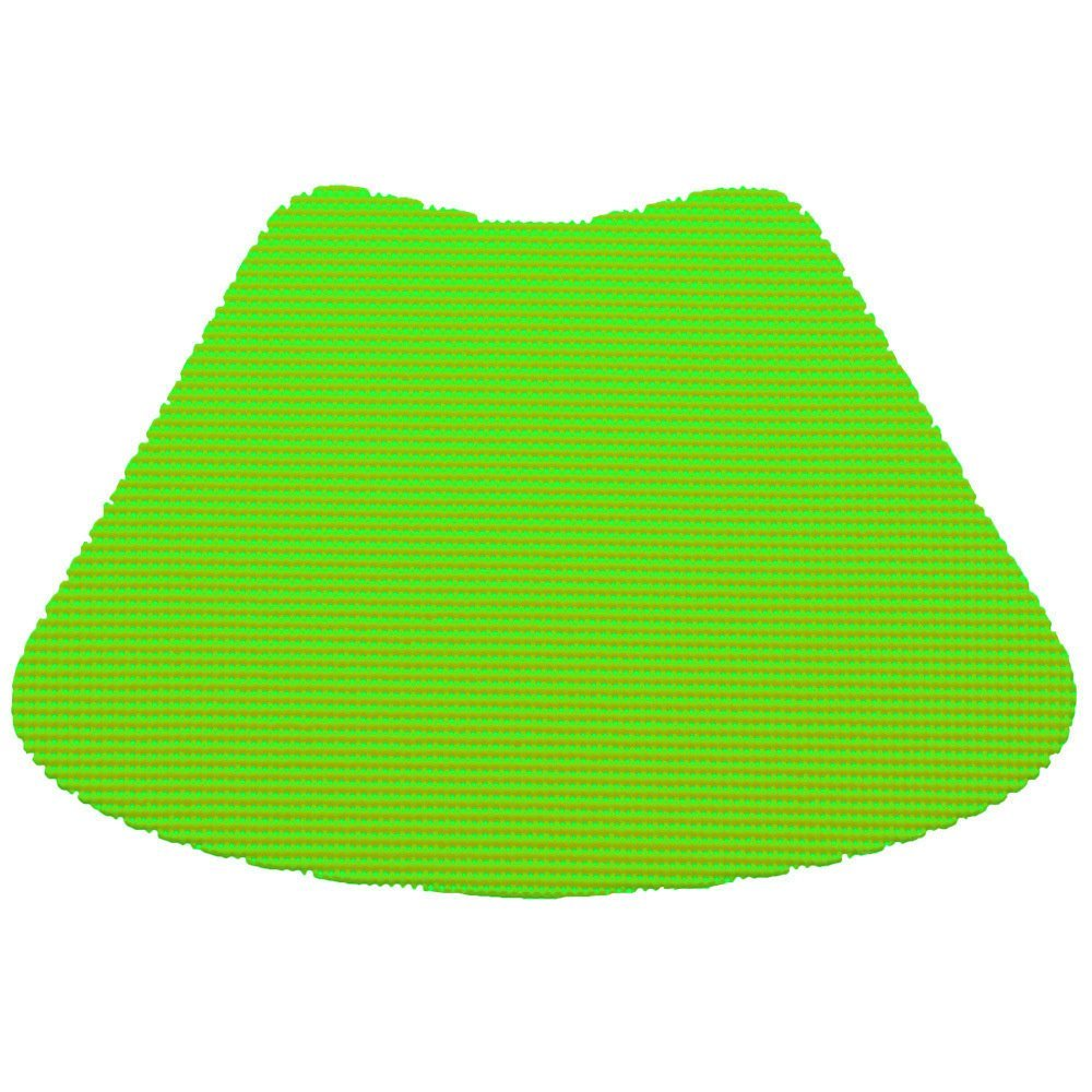 12 Piece Lime Green Fishnet Placemat, Traditional Style, Lace Material, Solid Pattern, Wedge Shape, Machine washable, Perfect For Everyday, Fade Resistant And Durable, Light Green