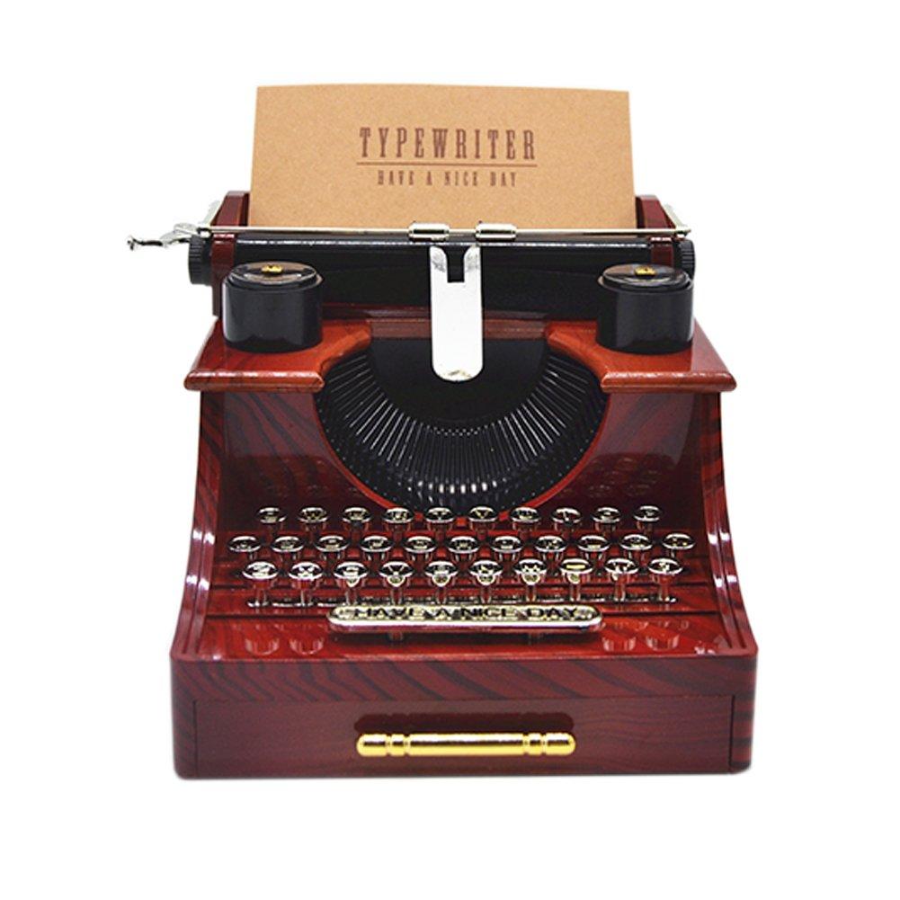 【人気商品!】 Anlydia Vintage Typewriter Design Trinket Trinket Gift Music Box Gift For For Christmas B077LNVJBT, 野木町:82b6a224 --- arcego.dominiotemporario.com