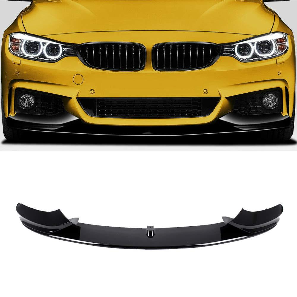 Matt Black F32 Front Lip,FRP Front Bumper Lip Spoiler Splitter For 2014-2019 BMW F32//F36//F33 4 Series With M Sport Bumper