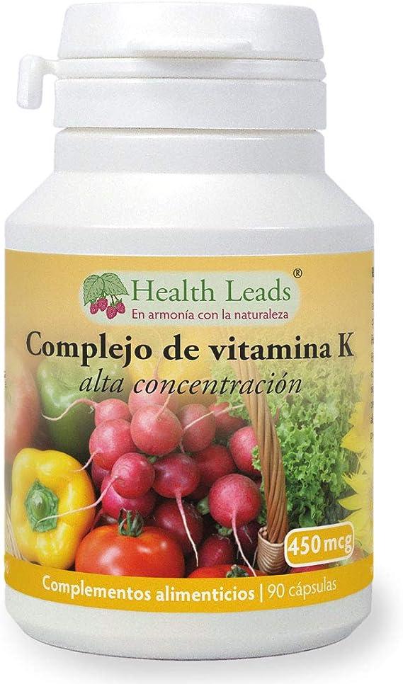 Complejo de Vitamina K Alta potencia 450μg x 90 cápsulas|Sin ...