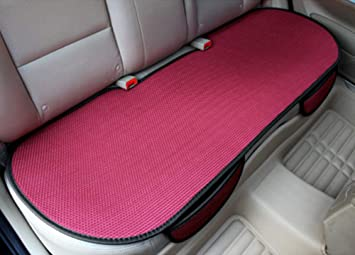 Glitzfas Auto Sitzauflage Autositzauflage Universal Sommer Autositzbezug Auto Vordersitz Rücksitz Kissen Rücksitz Rot Auto