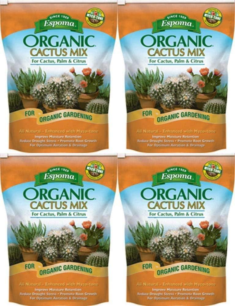 Espoma CA4 4-Quart Organic Cactus Mix : Succulent Plants : Garden & Outdoor