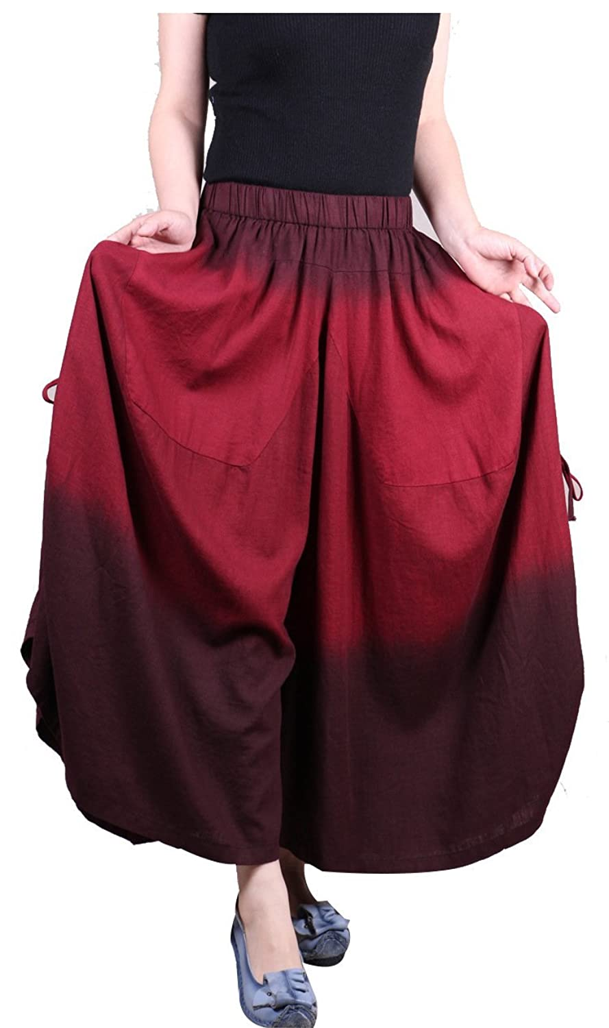 Ilishop Women's Culotte Wide Leg Pants Plus Size Pants