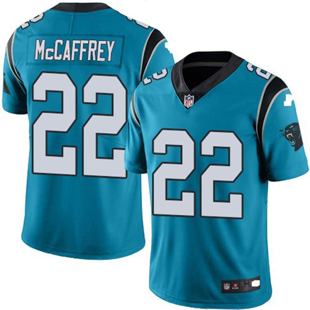 LYLSH Camiseta de Rugby Jersey NFL Football Panthers 22# McCAFFREY Camiseta de Hombre Ropa Deportiva para Adultos y ni/ños