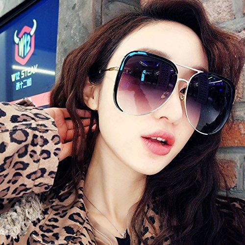 Aumentar Cara Mujeres Con De Caras Gafas Forma Cuerpo Siete Vviiyj Medio Fina Film Transparente Caja Para Redonda Sol Black Grande negro Azul Gradient tzq0OA