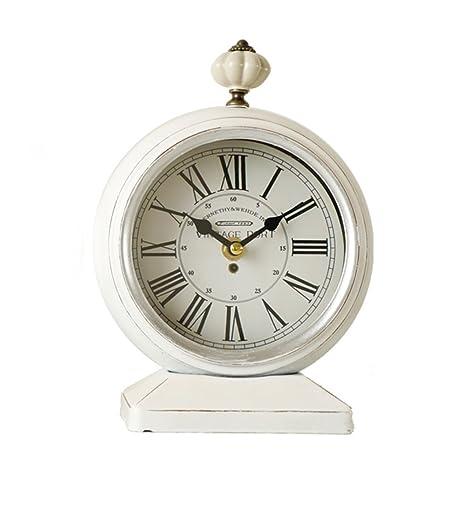 CLHXZE Reloj de Mesa Retro y Reloj de Mesa Retro Vintage Mantel ...