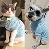 LUCKSTAR Cable Knit Turtleneck Sweater - Cats