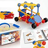 STEM Learning Toys for Boys and Girls Ages 3 4 5 6 7 8 9, Educational Building Materials for Kids to Tinker and Take Apart, Fun Toy Gift to Challenge Toddler to Age 10, Best Popular Kindergarten Set