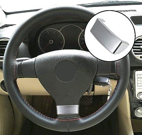 Nopnog Auto Lenkrad Trimm Paillettenabdeckung Einsatz Trimmabdeckung Chrom Emblem Für Vw Golf Mk5 Plus 5 Gti Passat B6 3c Eos Jetta Auto