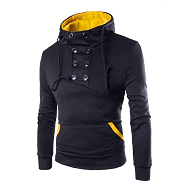 Amazon.com: Men's Sweater,Neartime Long Sleeve Hoodie Men Hooded ...