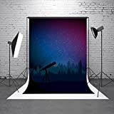 HMT 5X7ft (150cmX220cm) Royal Blue Night Backdrop for Photography Telescope Child Birthday Party Booth Prop