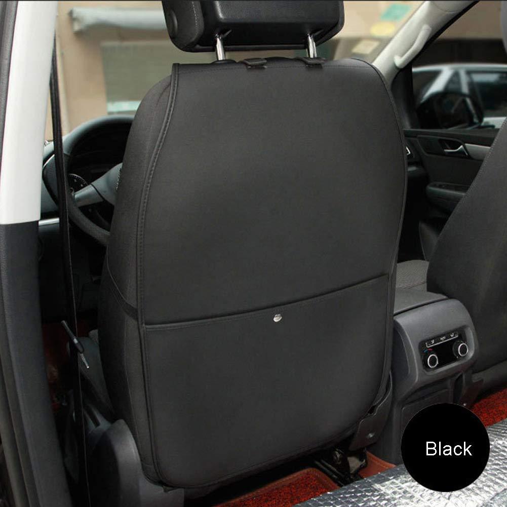 sch/ützt Auto Lederstoff vor Schmutz Kinder-Fu/ß-Stretchmatte PU-Leder Auto R/ücksitzschutz mit Aufbewahrungstasche Kickmatten f/ür Autositz R/ücksitz