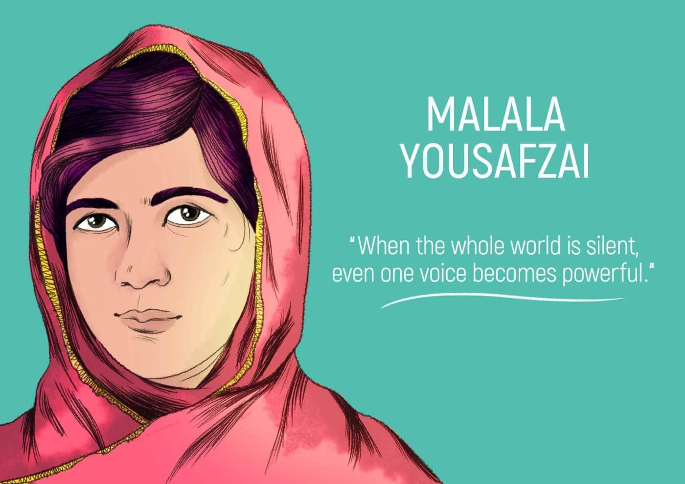 Tallenge Malala Yousafzai Quote Magnets 4 X 6 Inches Amazon In Home Kitchen