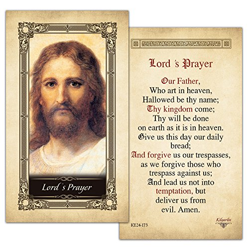 Lord's Prayer Laminated Holy Card - Pack of 3