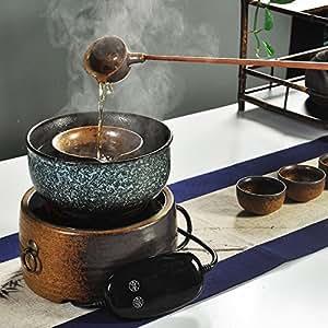 Estufa de Cerámica Eléctrica Muda Té Negro Nuevo Té de Cerámica Eléctrico Té de Té Seco Doméstico Kung Fu,UN: Amazon.es: Hogar