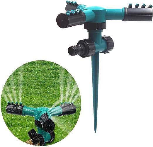 Tookie - Aspersor de Césped automático Giratorio 360 ° para Jardín, aspersores de Agua, riego de Césped, Boquilla Ajustable de Tres Cabezas: Amazon.es: Jardín