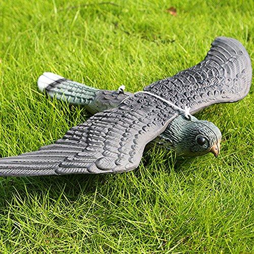 Lumpna Defenders Flying Falcon Decoy, Premium Lifelike Bird Repellent Fake Flying Hawk Decoy, Lifelike Bird Deterrent, Scares Foraging Birds from Outdoor Areas (34.5529CM)