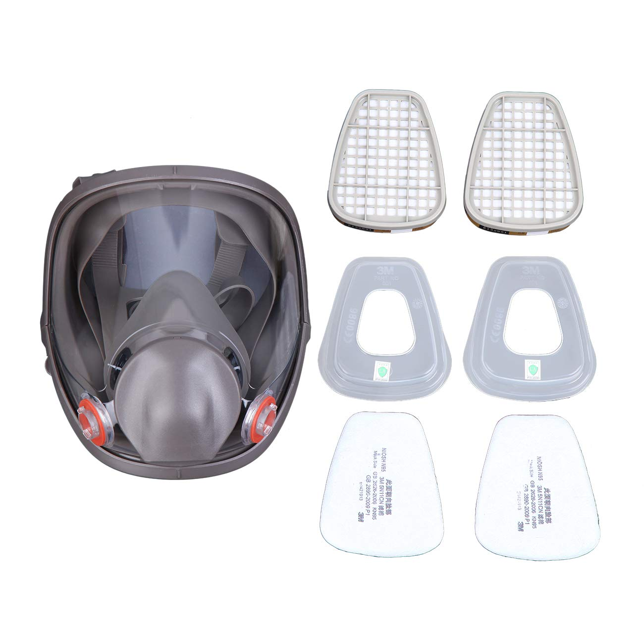 Yunge Full Face Respirator Gas Mask For 6800 Painting Spraying(15 in 1)Facepiece Respirator- Industrial Grade Quality by YungeEquipmentUS (Image #8)