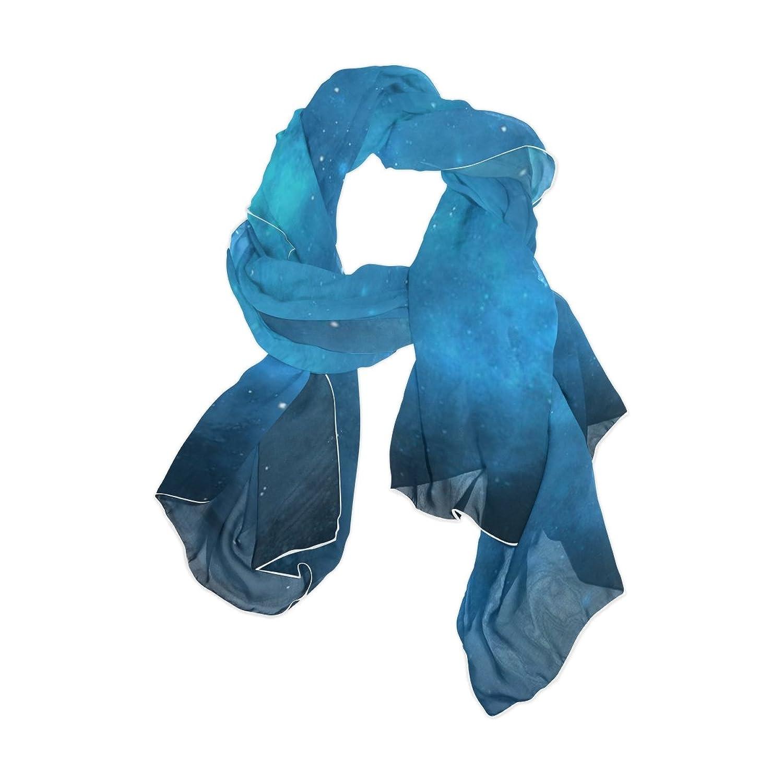 JSTEL Women Elegant Fashion Soft Large Silk chiffon Scarf with Star Space Pattern E18