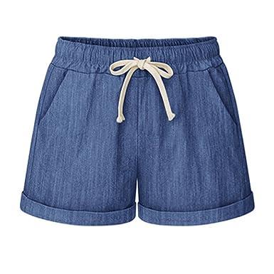 elegante Schuhe Repliken reich und großartig HAINES Kurze Hosen Damen Sommer Leinen Shorts Hohe Taille Hotpants Beach  Short