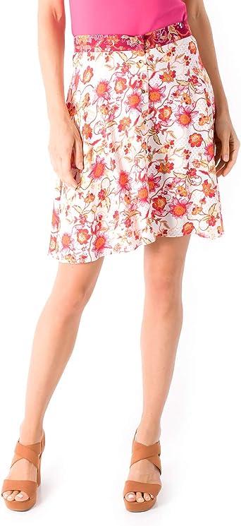 Smash! Falda de Estilo Romantico con Estampado Floral Falda Mini ...