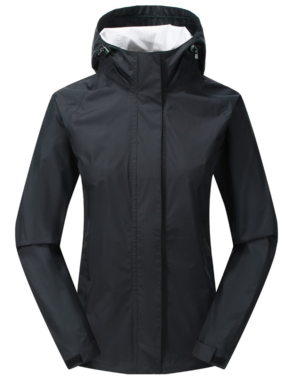 Women Hooded Rain Jacket - Diamond Candy Outdoor Lightweight Waterproof Coat