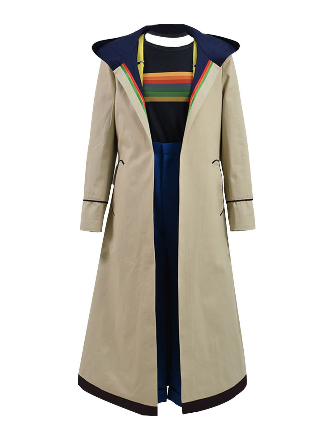 Very Last Shop Classic Sci-Fi TV Series 13th Doctor Costume Women Beige Trench Coat Overcoat (Beige Full Set, US Women-XXL) by Very Last Shop (Image #1)