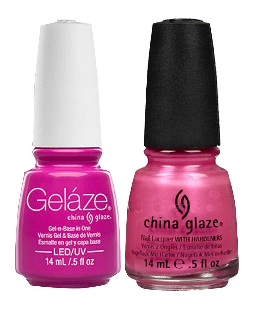 Amazon.com : China Glaze Gelaze Tips and Toes Nail Polish, Pink ...