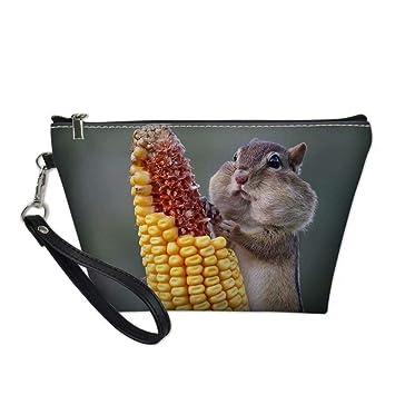 185100baff80 Amazon.com : UNICEU Outdoor Travel Cosmetic Bags Cute Squirrel ...