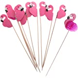 Gazechimp Kuchen Toppers - Deko Picker - Cupcake Picks - Flamingo - aus Papier - Party Dekoration - Set/10Stück