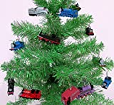 """Thomas the Train 12 Piece Holiday Christmas Tree Ornament Set Featuring Thomas, Hiro, James, Percy, Belle, Spencer and Other Engine Friends Ranging from 2"""" to 3"""" Long"""