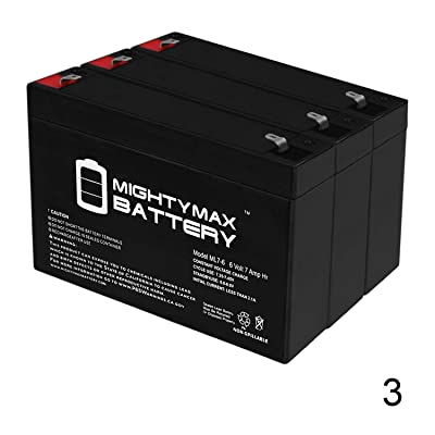 Mighty Max Battery 6 Volt 7 AmpH SLA Replacement Battery with F1 Terminal for ELB0607-3 Pack Brand Product: Electronics