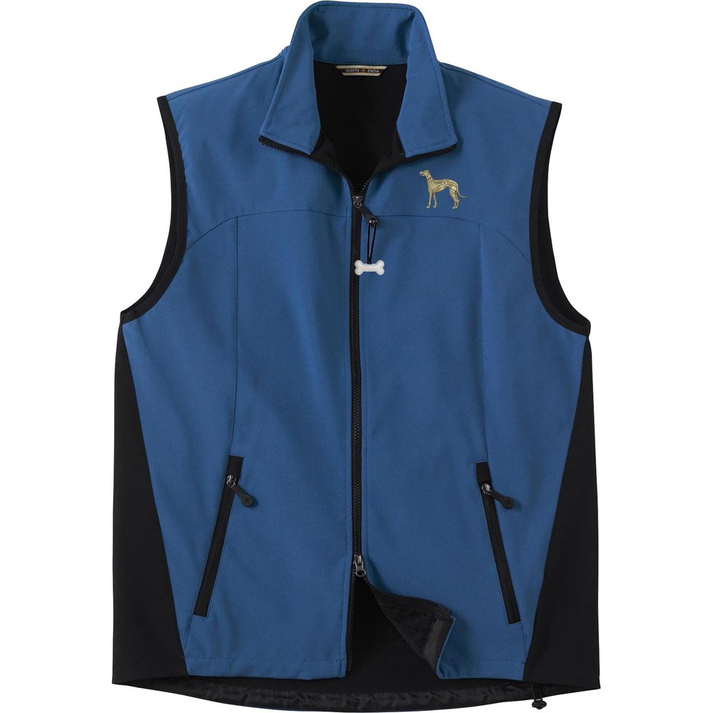 Greyhound Fawn Mens High Tec Vest Bone Zipper Pull