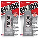 2 Pack E6000 Craft Industrial Strength Adhesive, Clear, 2 oz