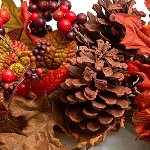 Factory Direct Craft Artificial Autumn Leaf, Berry and Pinecone Swag | for Indoor Decor