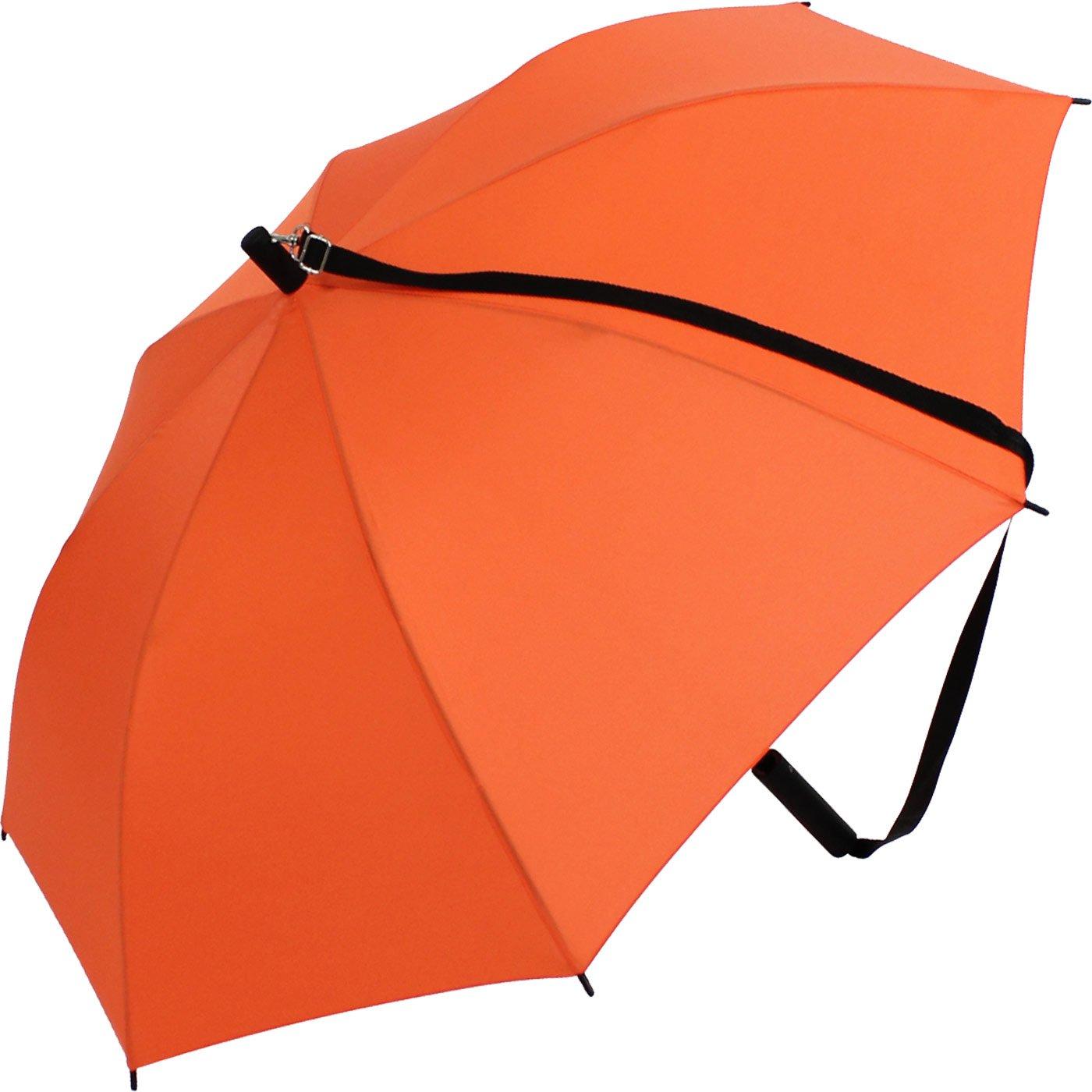 iX Brella, ombrello con tracolla a spalla, l'automatico permette di avere le mani libere Giallo gelb 100 cm